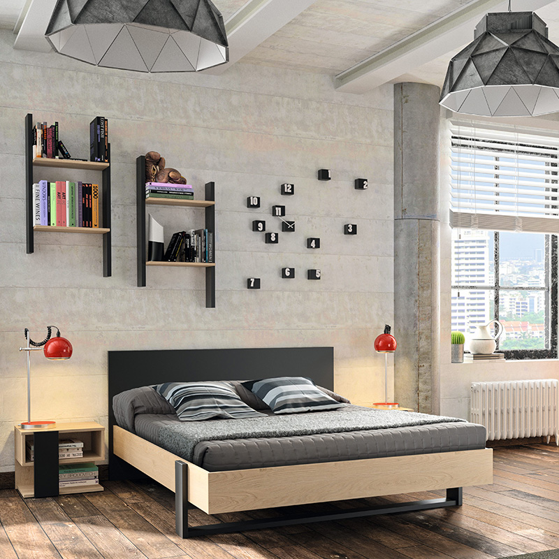fixer une tag re murale avec des fixations invisibles blog but. Black Bedroom Furniture Sets. Home Design Ideas