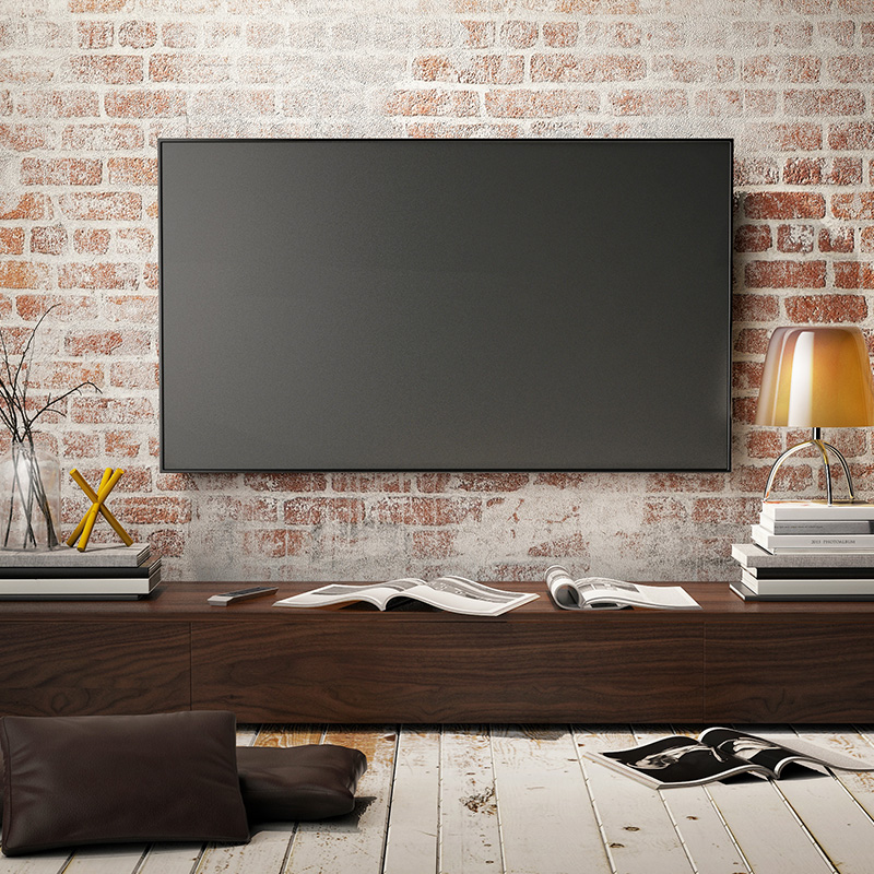 deco tv au mur coaching dco duune pice a vivre with deco tv au mur amazing la hauteur idale. Black Bedroom Furniture Sets. Home Design Ideas