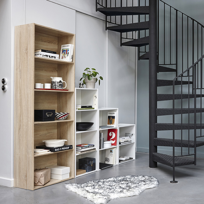 bibliothque escalier excellent meuble ikea casier. Black Bedroom Furniture Sets. Home Design Ideas