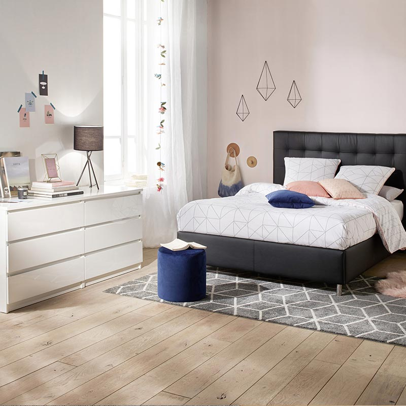 chambre tendance commode blanche