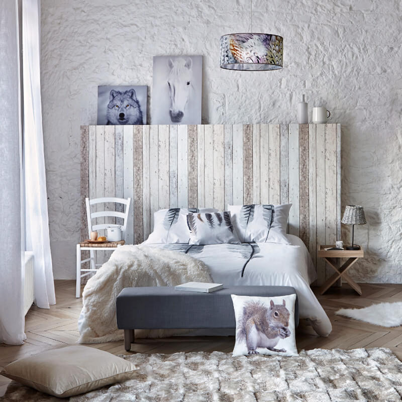 chambre nordique chambre scandinave blanche avec. Black Bedroom Furniture Sets. Home Design Ideas