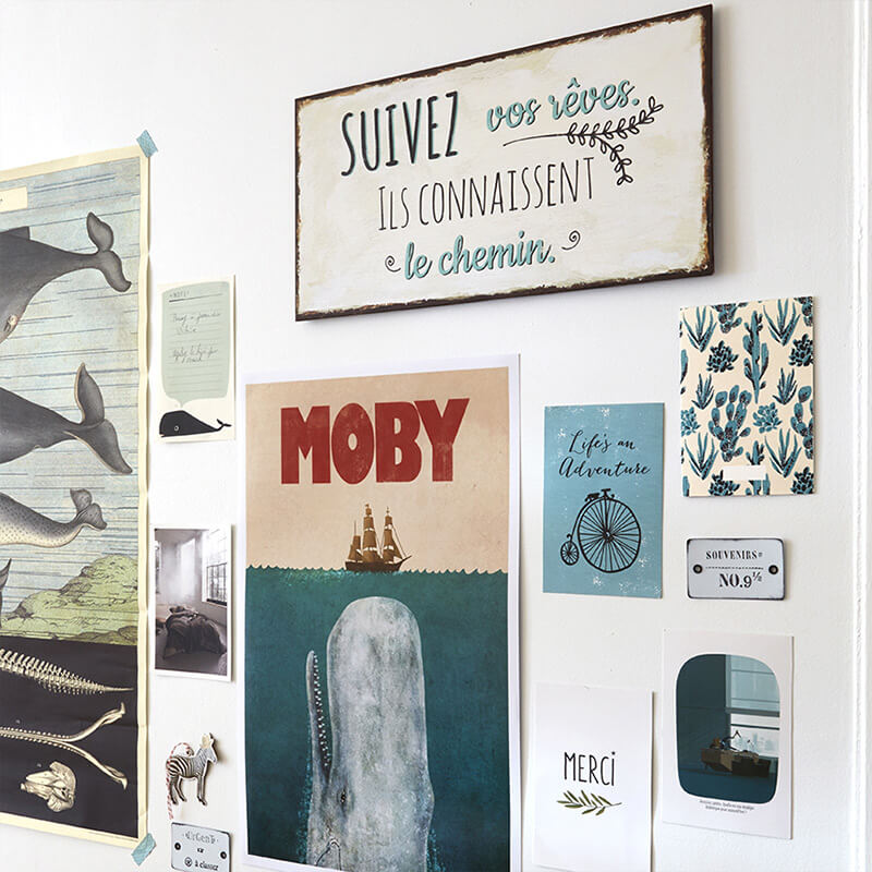 affiche décorative inspiration