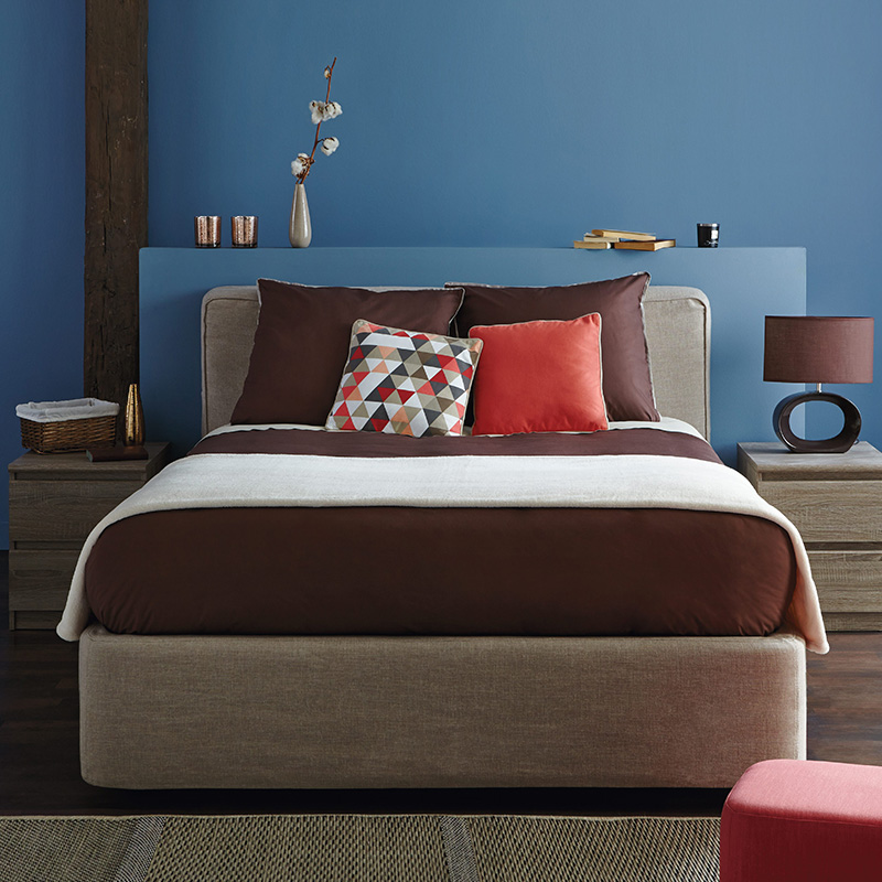 chambre association bleu marron