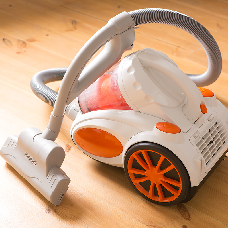 aspirateur sans sac orange