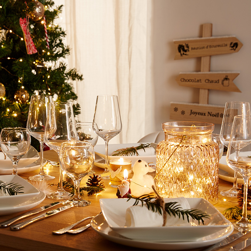 D coration de table de no l nos 10 coups de c ur blog but - Table de fete decoration noel ...