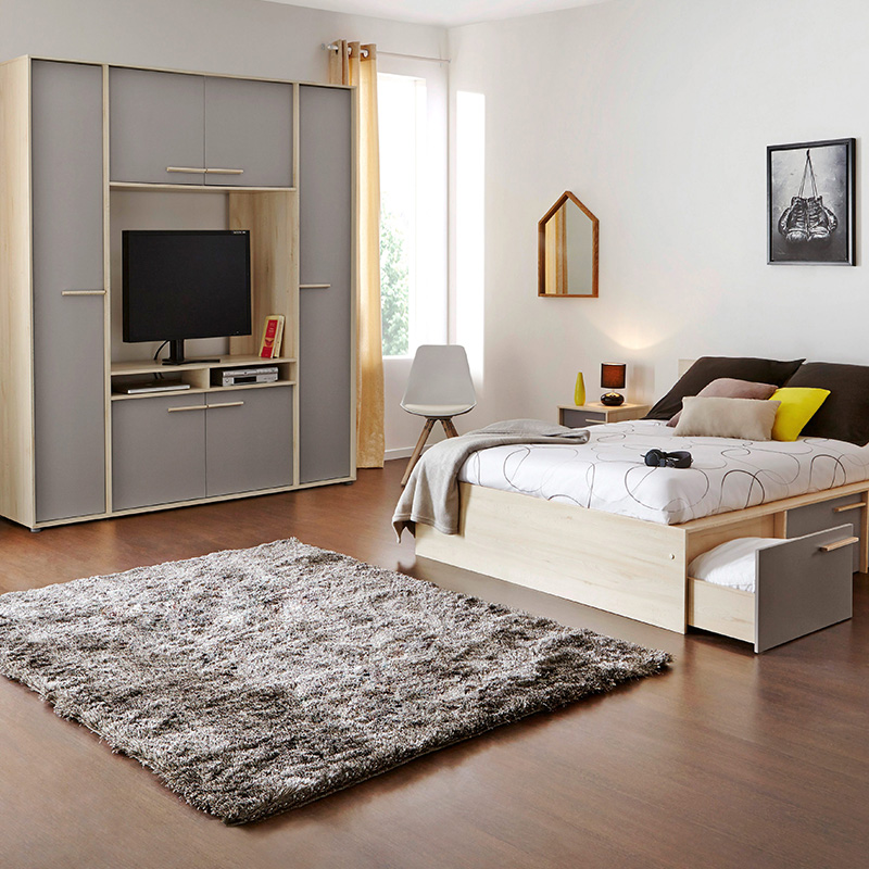 la d co d 39 une chambre grise en 10 id es blog but. Black Bedroom Furniture Sets. Home Design Ideas