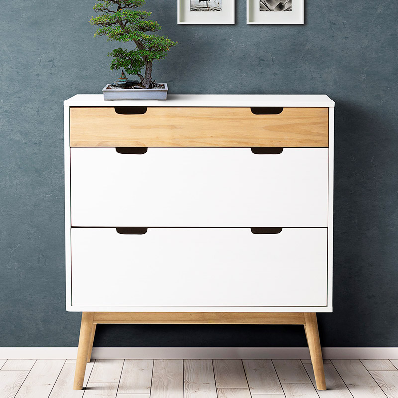 commode scandinave blanche