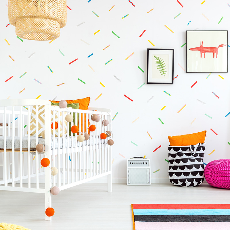 decoration coloree diy chambre enfant