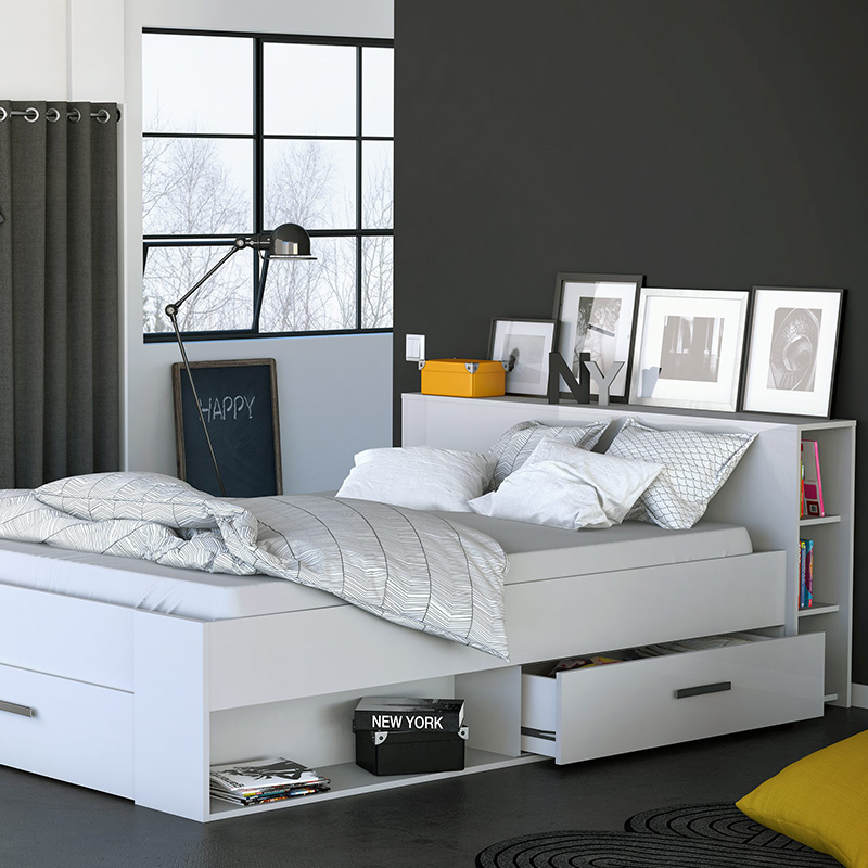 lit gain de place le choix malin pour votre chambre. Black Bedroom Furniture Sets. Home Design Ideas