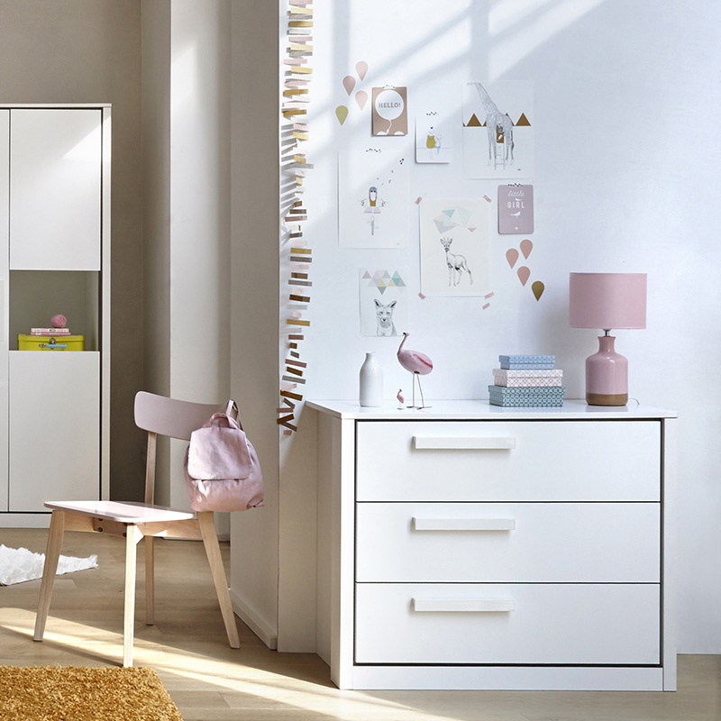commode blanche chambre enfant
