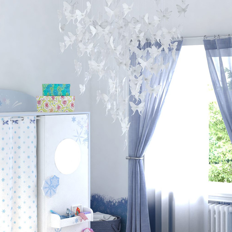 decoration diy suspension papillon chambre bebe