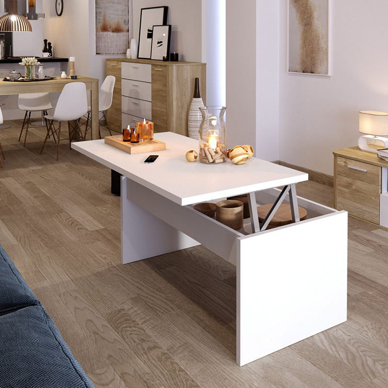 table basse coin repas