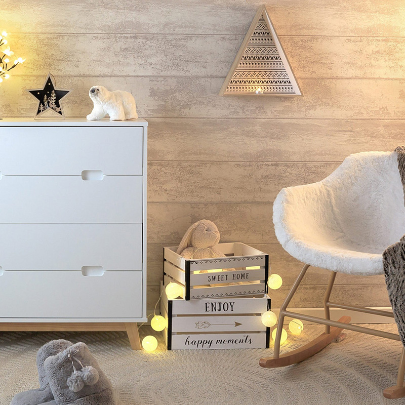 commode blanche salon cosy decoration