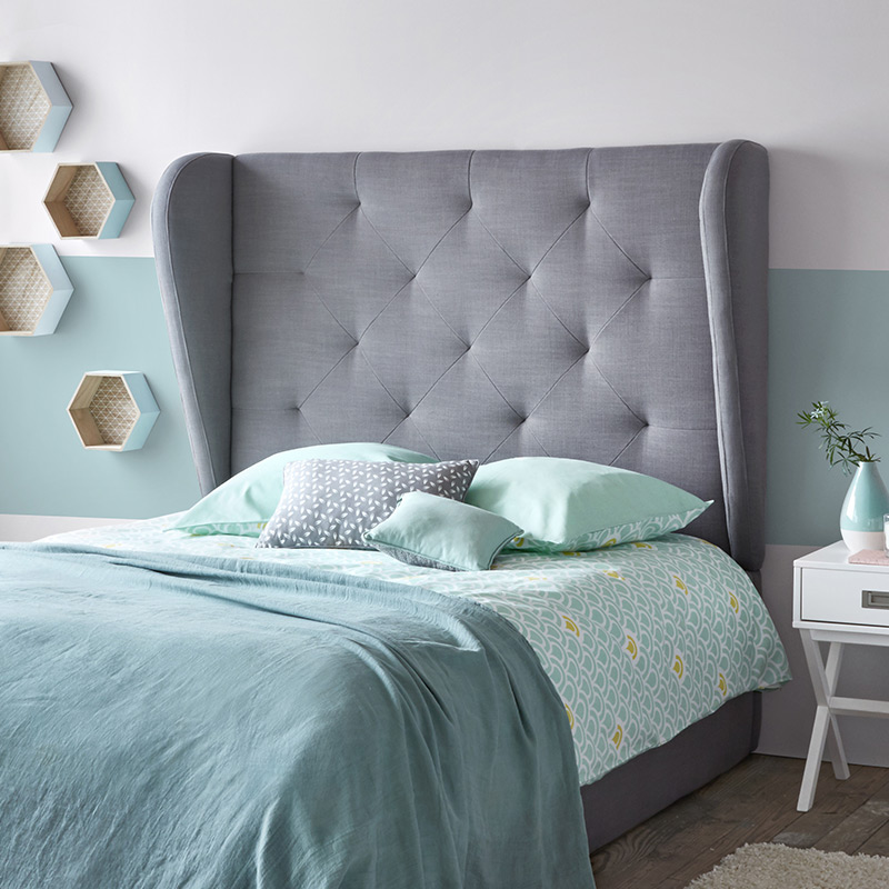 couette imprimee turquoise