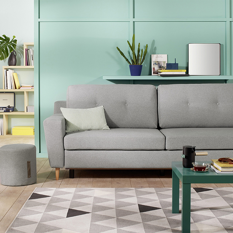 canape convertible scandinave gris