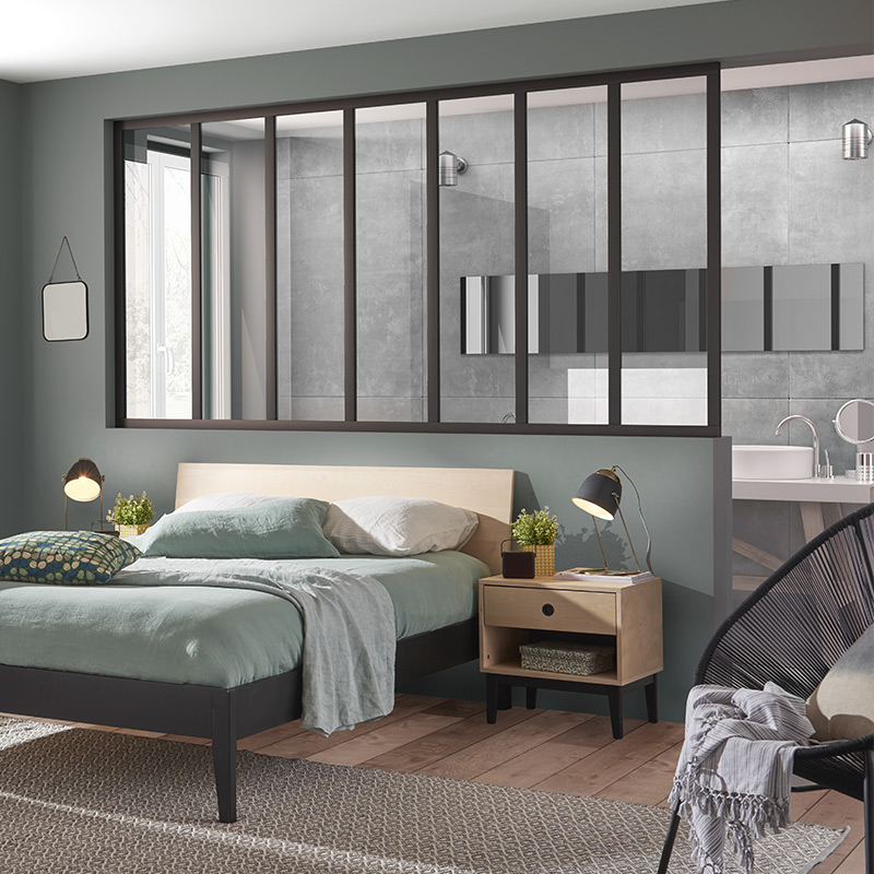 trendy separation vitree with separer une chambre en deux. Black Bedroom Furniture Sets. Home Design Ideas