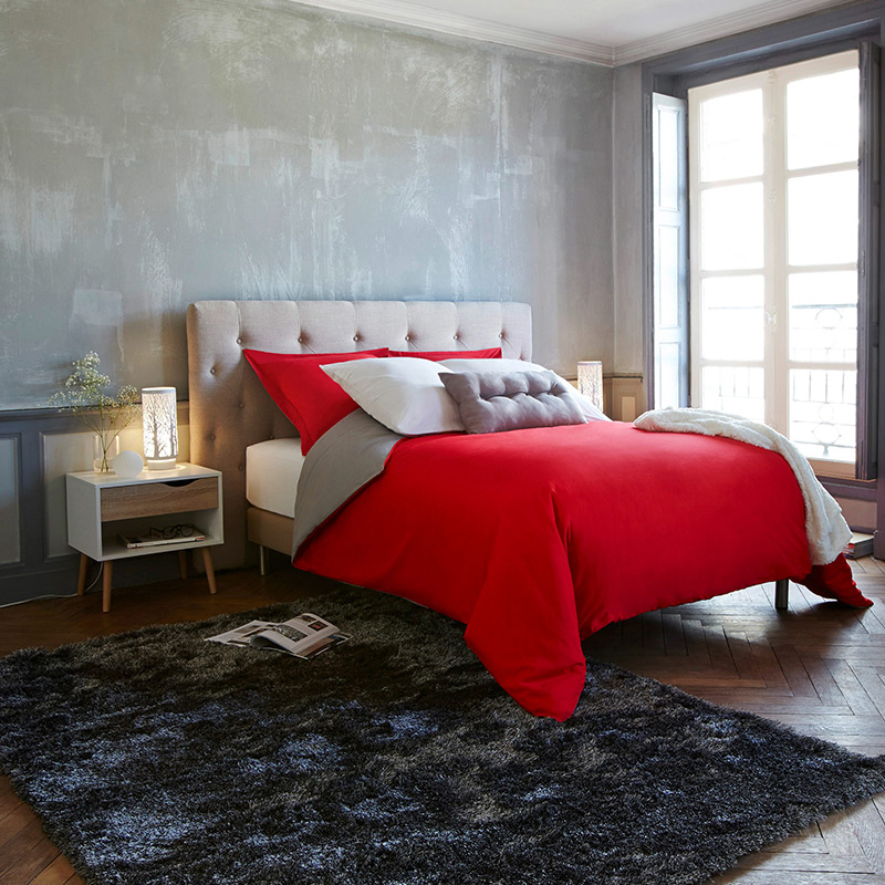 couette rouge unie