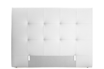 Tête de lit PU L.200 cm DREAM/HOME BLANC