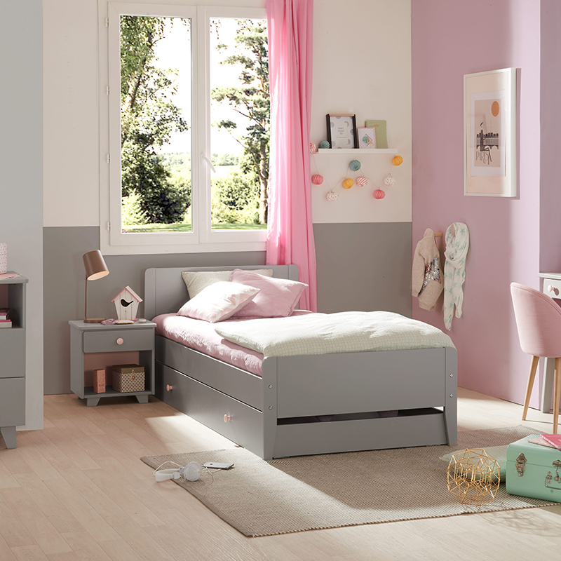 Chambre Gris Perle Rose