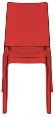 Chaise CRISTAL Rouge transparente