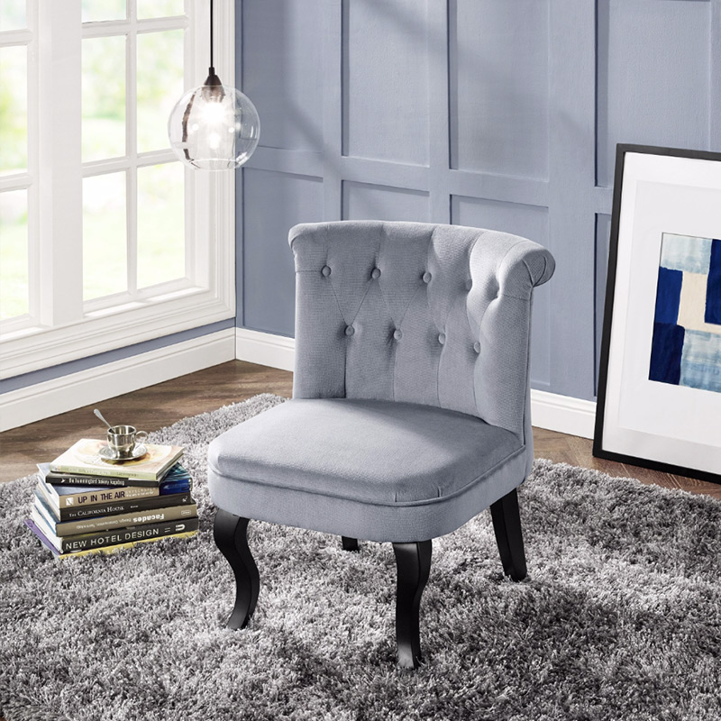 fauteuil crapaud gris