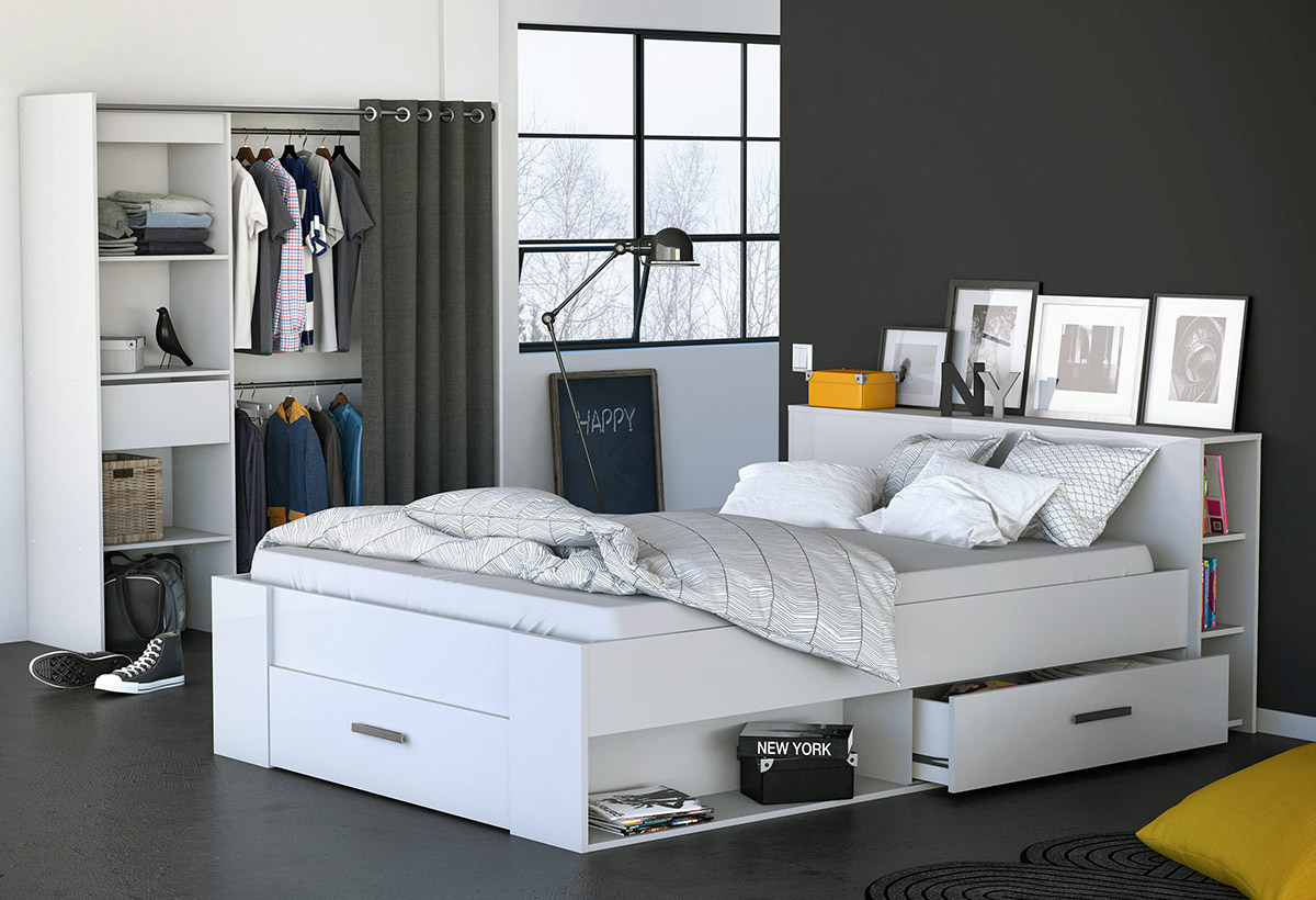 10 astuces de rangement pour la chambre blog but. Black Bedroom Furniture Sets. Home Design Ideas