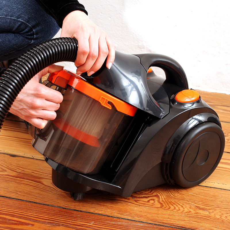 aspirateur bac orange