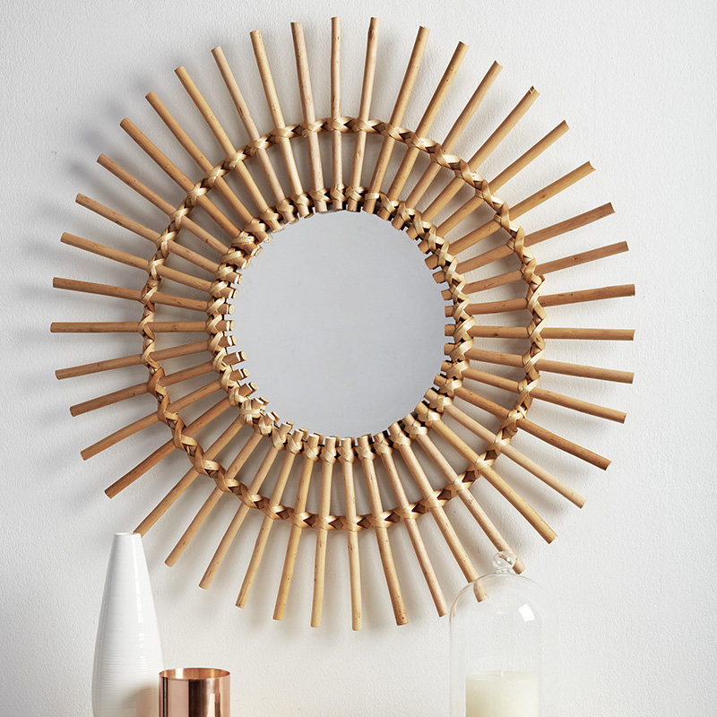 adoption deco coachella miroir rotin