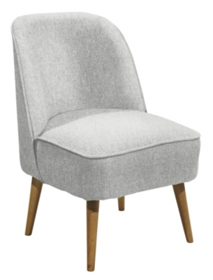 Fauteuil scandinave Tissu gris clair PINO