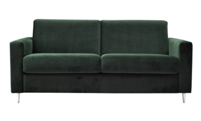 Canapé convertible 3 places GATSBY Tissu velours Vert 38