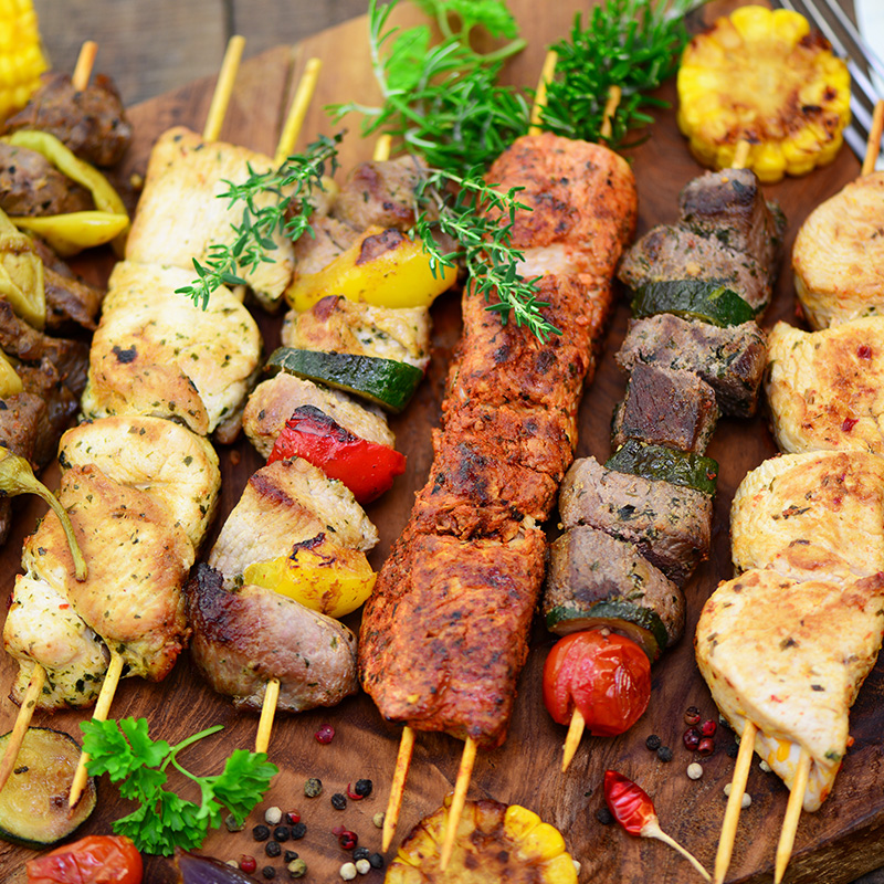 brochettes marinees barbecue