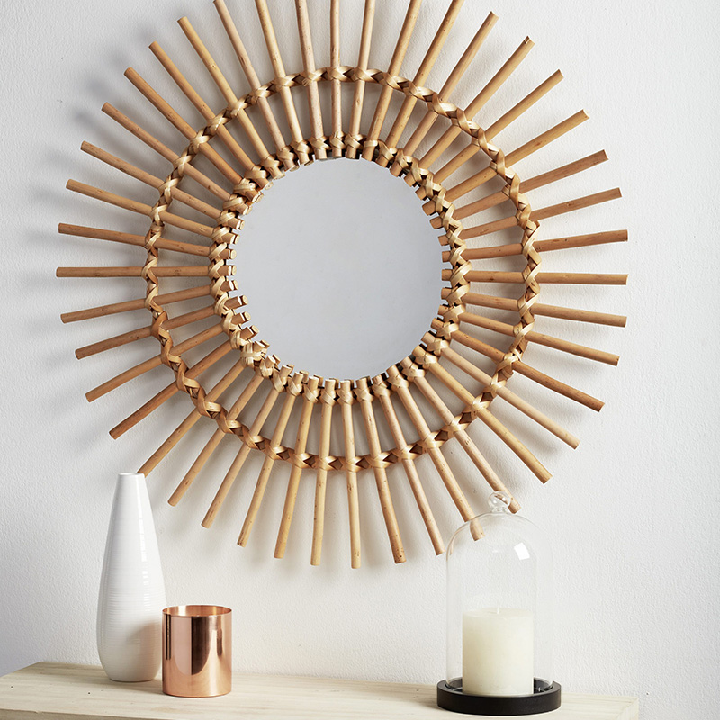 decoration bambou miroir