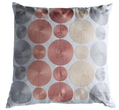 Coussin 40x40 cm ROND Rose