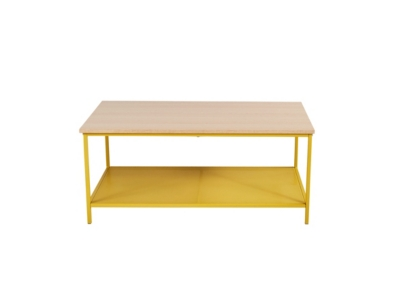 Table basse rectangle NAILA Jaune/Chêne
