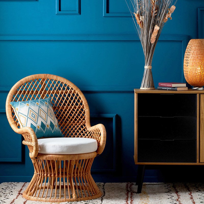 fauteuil rotin chic