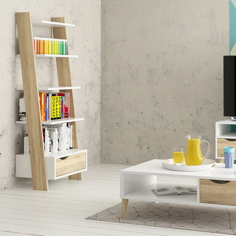 bibliotheque etagere scandinave salon