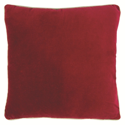 Coussin 60x60 cm VELOUTE Rouge