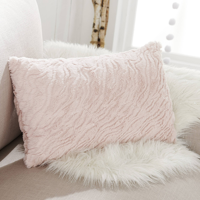 coussin rose poudre cocooning
