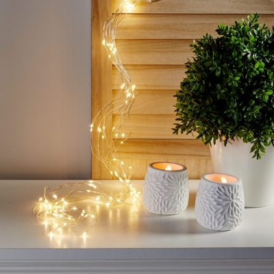 Cascade microled 100 LED  Blanc froid