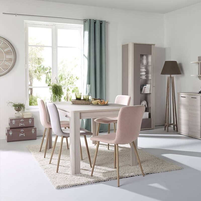 coin repas chaises scandinave