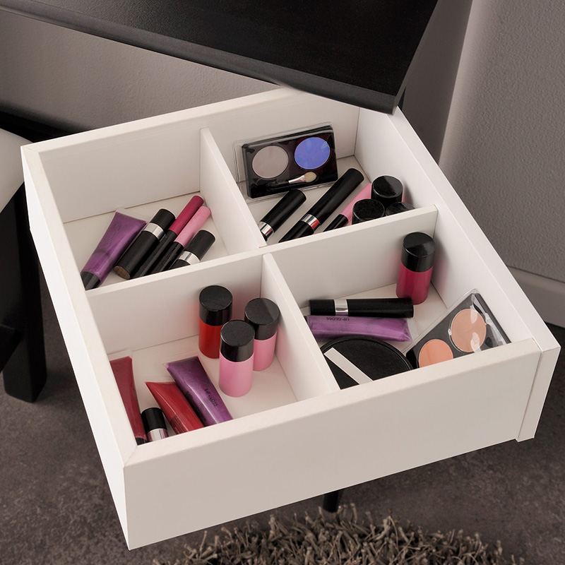 rangements coiffeuse maquillage