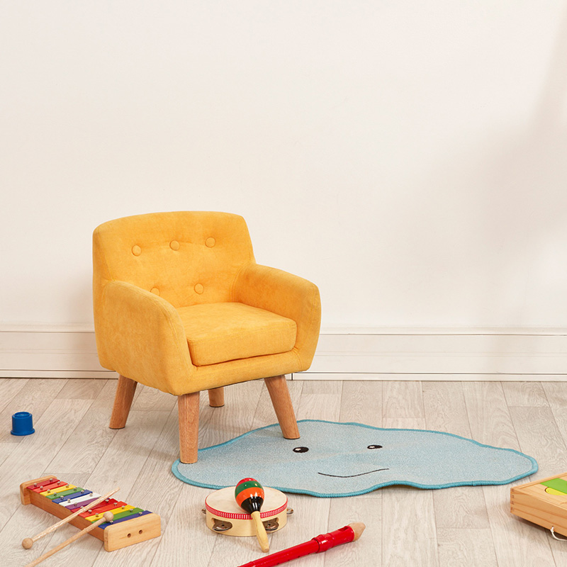 chaise retro jaune