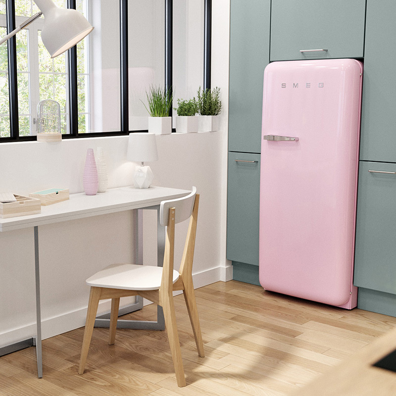 refrigerateur rose