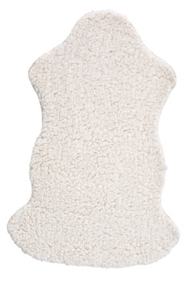 Tapis 68x100 MOUNTAIN Imitation fourrure Blanc