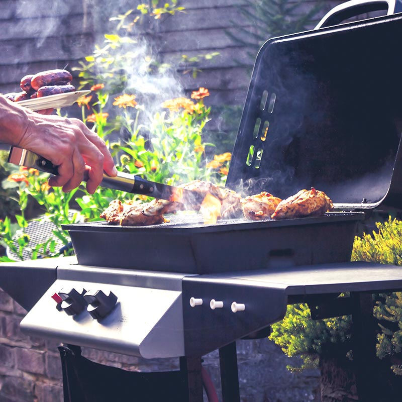 barbecue cuisson poulet