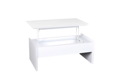 Table basse plateau relevable TOMMY 2 Blanc/taupe