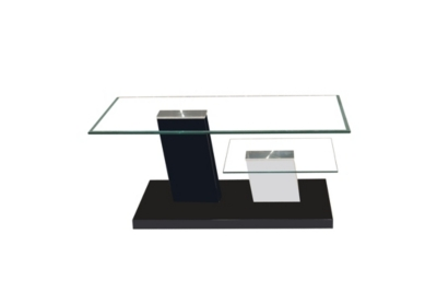 Table basse Elora gris et blanc
