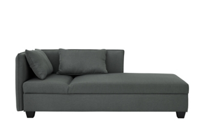 Méridienne modulable MISTY Gris anthracite
