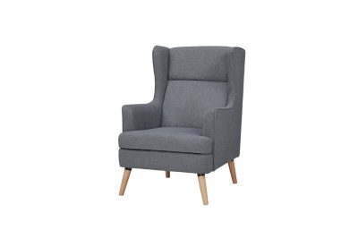 Fauteuil CLARY tissu gris