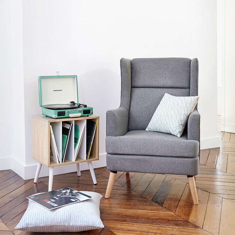 fauteuil gris clary
